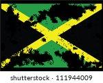 dirty jamaica flag backgrounds | Shutterstock .eps vector #111944009