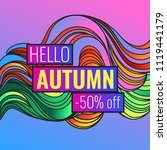 autumn discounts  background... | Shutterstock .eps vector #1119441179