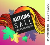 autumn discounts  background... | Shutterstock .eps vector #1119441200