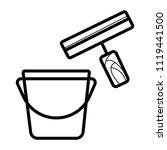scraper vector icon   Shutterstock .eps vector #1119441500