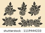 rose vector lace by hand... | Shutterstock .eps vector #1119444233