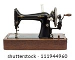 Antique Sewing Machine Isolate...