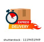 delivery icon for apps and... | Shutterstock .eps vector #1119451949