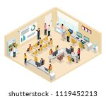 isometric coworking office... | Shutterstock .eps vector #1119452213