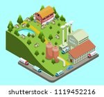 isometric dairy factory concept ... | Shutterstock .eps vector #1119452216