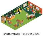 isometric barber salon concept... | Shutterstock .eps vector #1119452228