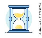line art icons. hourglass...   Shutterstock .eps vector #1119452786