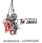 halloween background   hanging... | Shutterstock .eps vector #1119453269