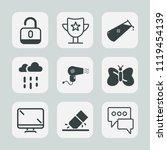 premium set of outline  fill... | Shutterstock .eps vector #1119454139