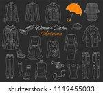 female fashion set. women's... | Shutterstock .eps vector #1119455033