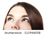 eyes looking up. beautiful... | Shutterstock . vector #111946058