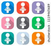 woman speaker icon. set of... | Shutterstock .eps vector #1119465689