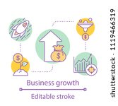 business growth concept icon.... | Shutterstock .eps vector #1119466319