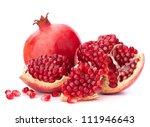 Ripe Pomegranate Fruit Isolated ...