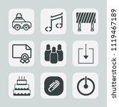 premium set of outline  fill...   Shutterstock .eps vector #1119467189