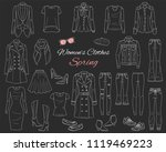 female fashion set. women... | Shutterstock .eps vector #1119469223