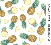 seamless pattern with... | Shutterstock . vector #1119469409