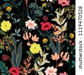 a garden in the night full of ... | Shutterstock .eps vector #1119470528