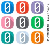 number zero  numeral  simple... | Shutterstock .eps vector #1119471143