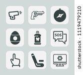 premium set of outline  fill... | Shutterstock .eps vector #1119479210