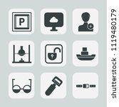 premium set of outline  fill... | Shutterstock .eps vector #1119480179