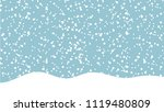 snow winter sky background.... | Shutterstock .eps vector #1119480809