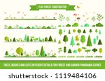 create your own forest   flat... | Shutterstock .eps vector #1119484106