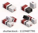 3d rendering blank boxes... | Shutterstock . vector #1119487790