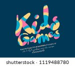 vector logo kids games. font... | Shutterstock .eps vector #1119488780