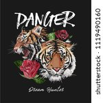 typography slogan with tiger... | Shutterstock .eps vector #1119490160