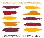trendy label brush stroke... | Shutterstock .eps vector #1119492329