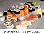 close up of sashimi sushi set... | Shutterstock . vector #1119496580