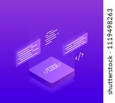 software development and... | Shutterstock .eps vector #1119498263