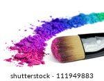 professional make up brush on... | Shutterstock . vector #111949883