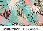 seamless tropical pattern.... | Shutterstock .eps vector #1119502043