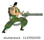 army marine soldier with heavy... | Shutterstock .eps vector #1119502550