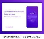 concept website. sign in screen.... | Shutterstock .eps vector #1119502769