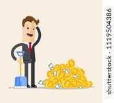 businessman with shovel and... | Shutterstock .eps vector #1119504386