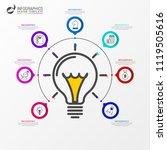 infographic design template.... | Shutterstock .eps vector #1119505616