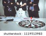 business target goal concept ... | Shutterstock . vector #1119513983