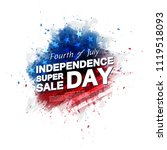 fourth of july background | Shutterstock .eps vector #1119518093