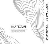topographical vector background ... | Shutterstock .eps vector #1119522206