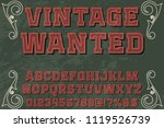 classic vintage decorative font ... | Shutterstock .eps vector #1119526739