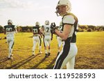 confident young quarterback... | Shutterstock . vector #1119528593