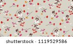 seamless floral pattern in... | Shutterstock .eps vector #1119529586