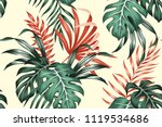 tropical exotic floral green... | Shutterstock .eps vector #1119534686