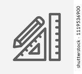 stationery icon line symbol....