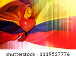 colombia day colombian... | Shutterstock . vector #1119537776