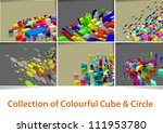 collection of colourful cube  ... | Shutterstock .eps vector #111953780