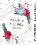 floral geometric vector design... | Shutterstock .eps vector #1119543383